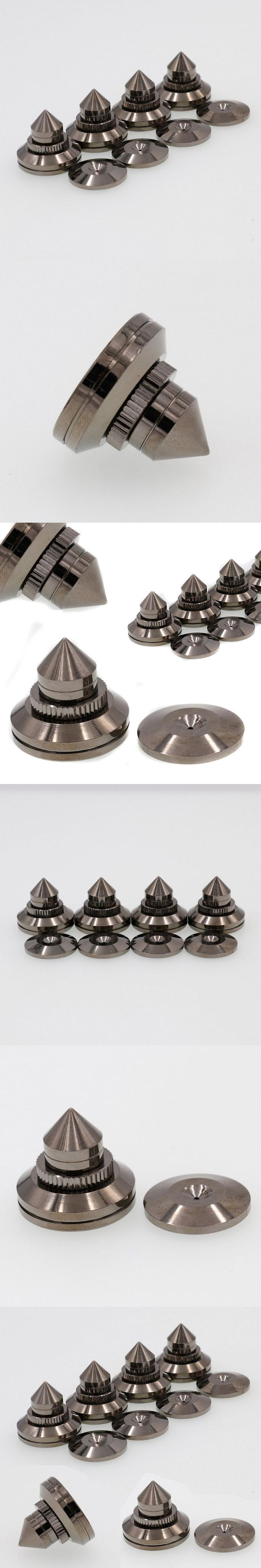 Mayitr 4sets New Brass Speaker Ampilifer CD Chassis Isolation Spikes Cones Stand Feet Pads Fit For Speaker Amplifier CD Player