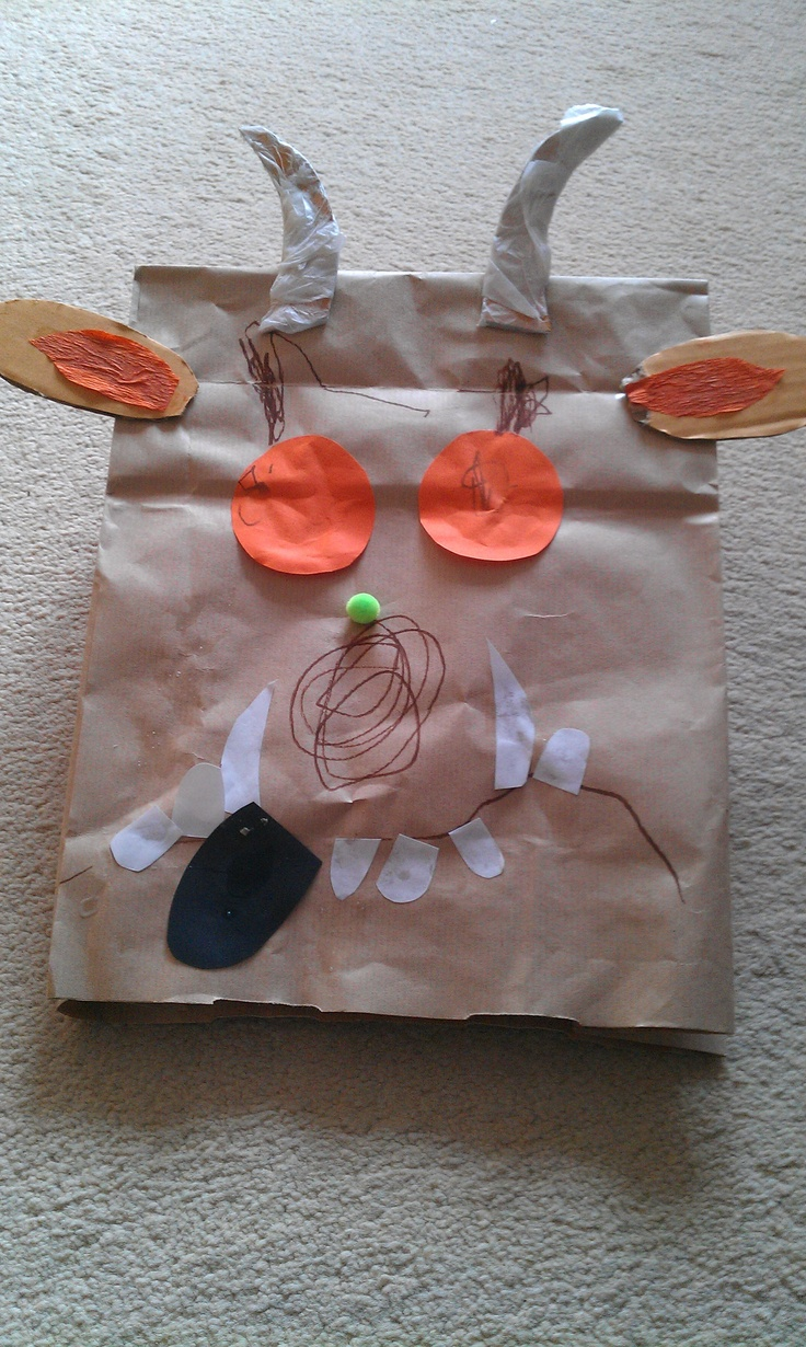 The gruffalo paper bag mask