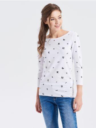 SINSAY - Bluzka z długim rękawem <br><br>Wzrost modelki: 176 cm<br>Rozmiar produktu: M