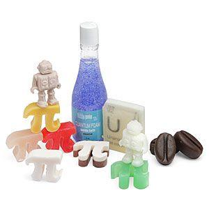 ThinkGeek :: Ultimate Pi, Radioactive Element, Coffee, Quantum Foam, Robot Geek Soap Gift Basket