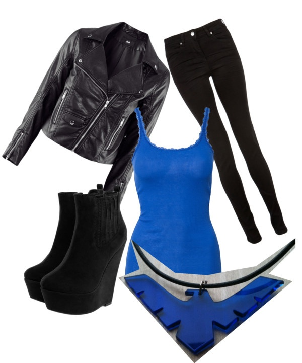 """""""DC Comic Nightwing inspired"""" by jodie-burson on Polyvore"""