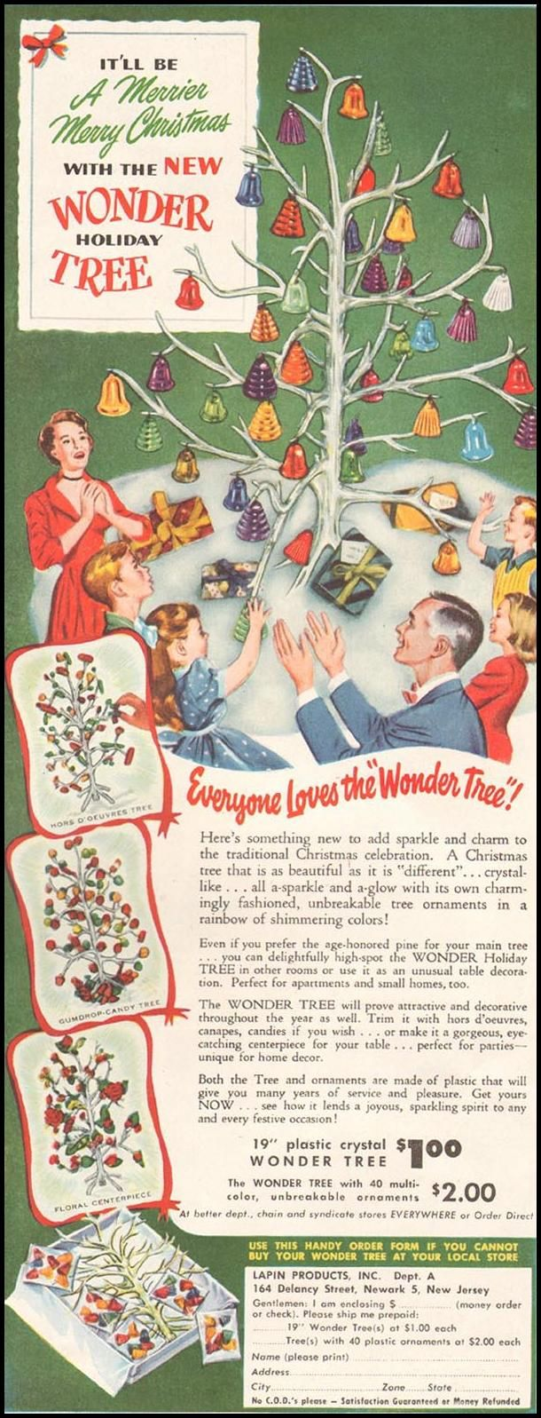 Back to previous page home garfield holiday celebrations - Wonder Holiday Tree Ladies Home Journal Ad Christmas 1950