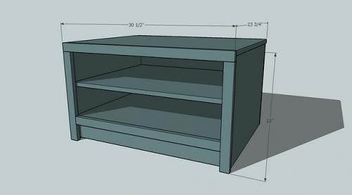 Option 4: CUBBY SYSTEM SHOE SHELF BENCH | From Ana White
