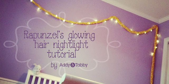 Addy: Rapunzel glowing hair nightlight - This will be perfect as a nightlight in Thing 1's new Rapunzel room!!  Is it her birthday yet?!?! :-)