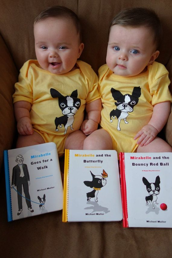 Boston terrier BABY KIDS ONESIES from The Adventures of Mirabelle