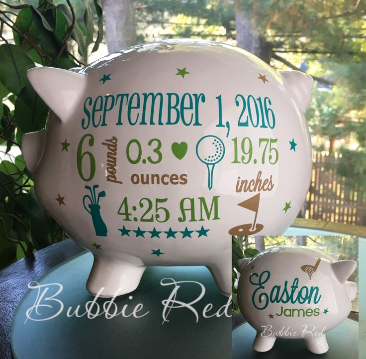 108 best baby gift ideas images on pinterest personalized piggy personalized golf piggy bank golf baby piggy bank baby birth stats gift baby boy sports gift piggy bank sports baby gift baby bank negle Choice Image