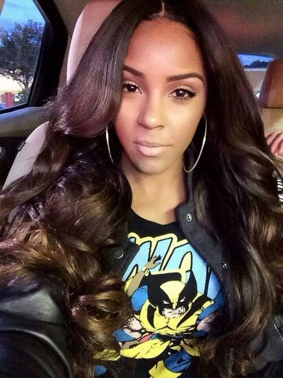 virgin hair styles 25 best ideas about middle part weave on 8359 | 951714a3150b17f63320bc35948c8d7d