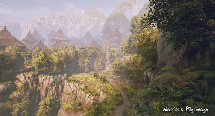 Warrior's Pilgrimage : Nature Area, Arif Pribadi on ArtStation at https://www.artstation.com/artwork/wZRVY