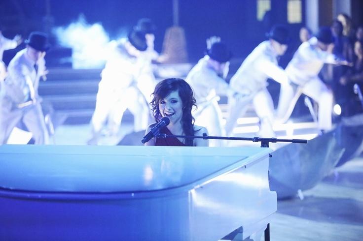 18-year-old internet sensation Christina Grimmie at the piano singing Titanium