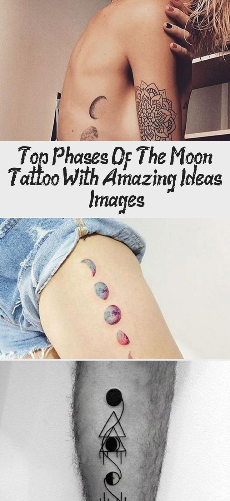 Top Phases Of The Moon Tattoo With Amazing Ideas & Images