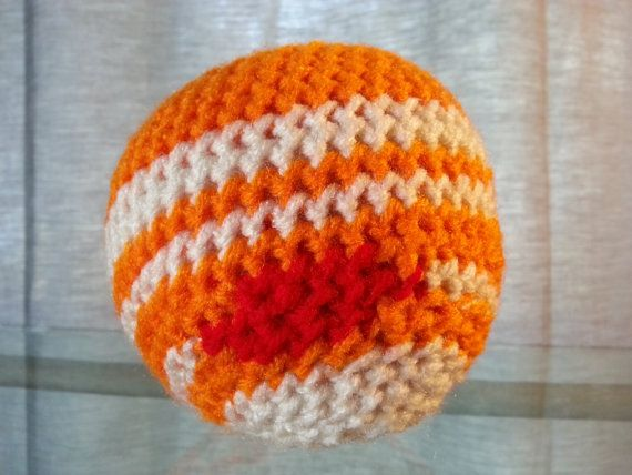 Crochet Planet Jupiter, Space Solar System, Stuffed Plush Geek Toy, Made to Order