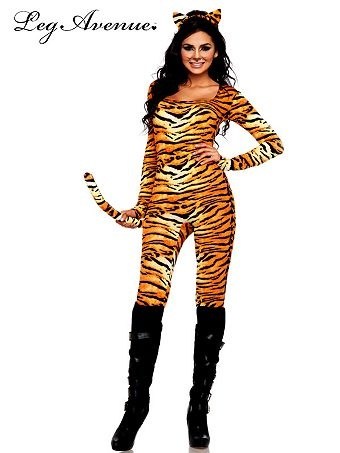 Women's Sexy Wild Tigress Catsuit Costume | Sexy Cat Suits Halloween Costumes
