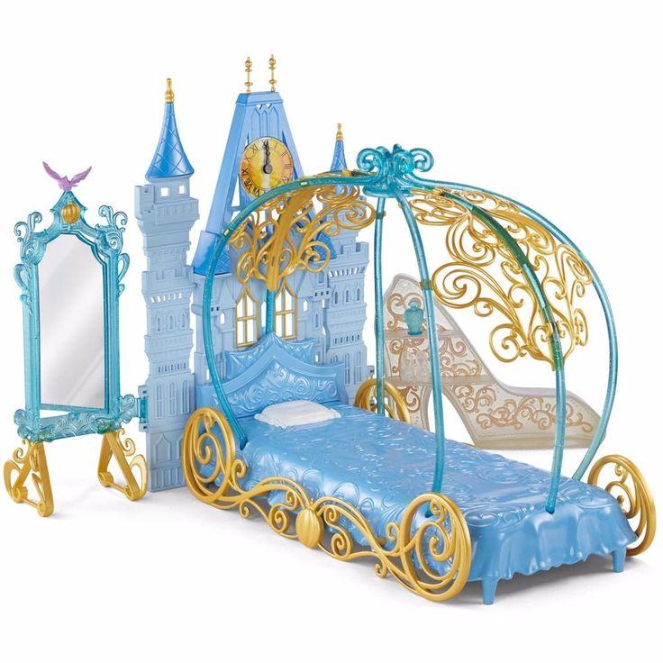 Disney Princess Cinderella's Dream Bedroom Doll Bed fits Barbie NEW - Mattel #Mattel