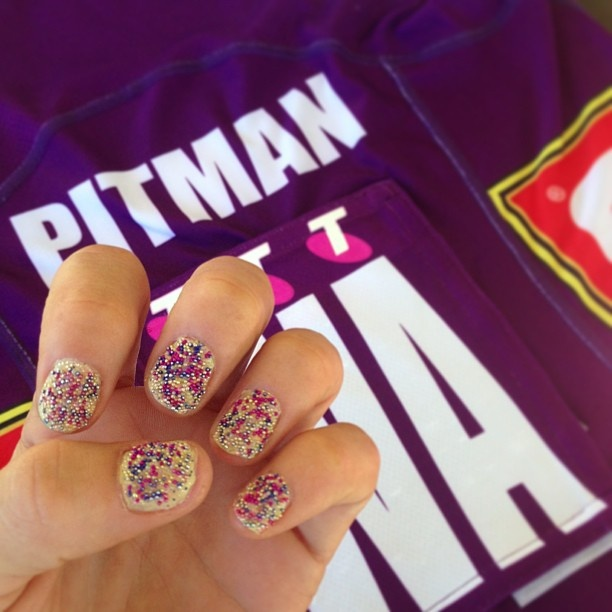 Chelsea Pitman shares her game day nails for round 6!
