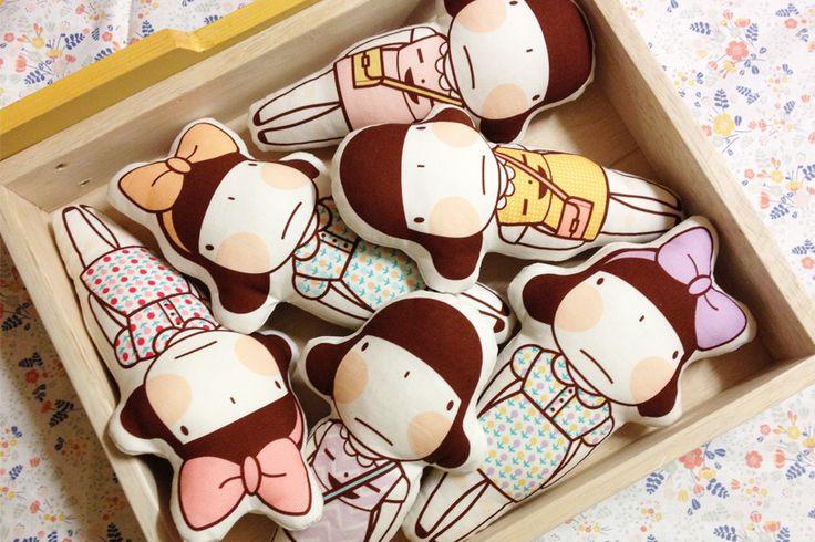 Miss Smile Fabric - Doll  www.misssmile.co.kr  귀여운 미스스마일 패브릭 인형을 만들 수 있는 인형원단입니다.