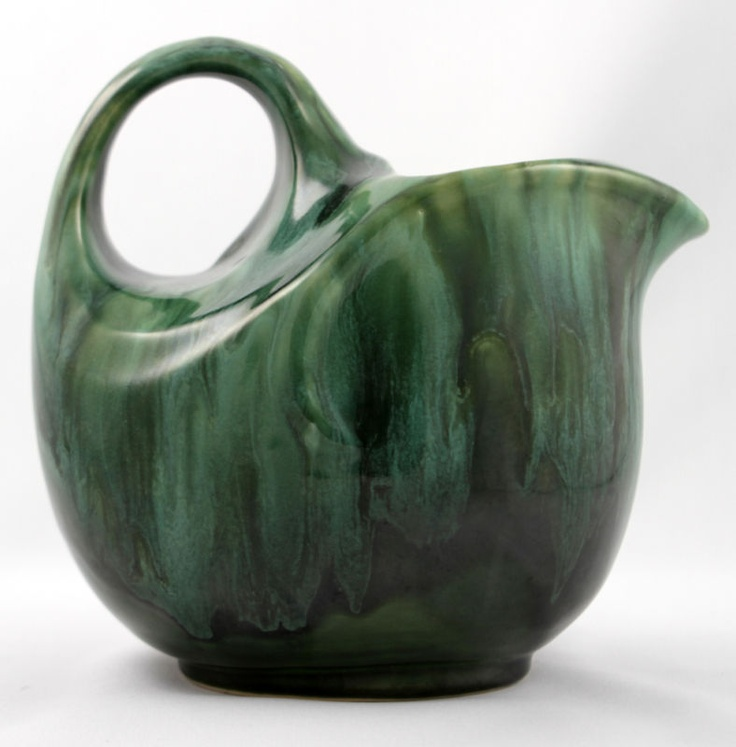 EAUCEWARE Dripped Green JUG PICHET Vert Coulant no 108