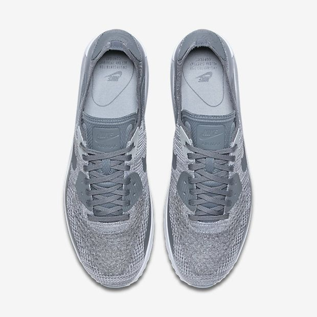 reputable site af89b a340b Chaussure Nike Air Max 90 Pas Cher Homme Ultra 2 0 Flyknit Platine Pur  Blanc Gris