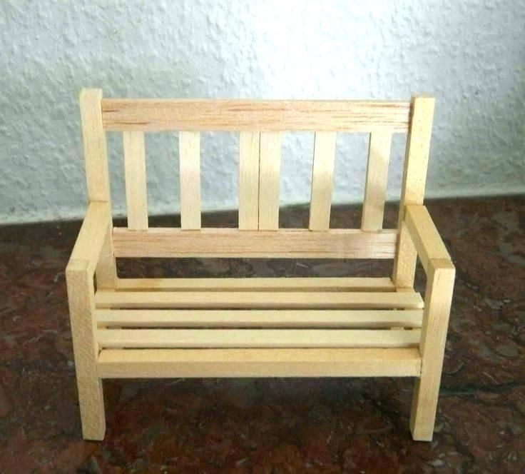 Sensational Mini Garden Bench Make Miniature Furniture Miniature Beatyapartments Chair Design Images Beatyapartmentscom
