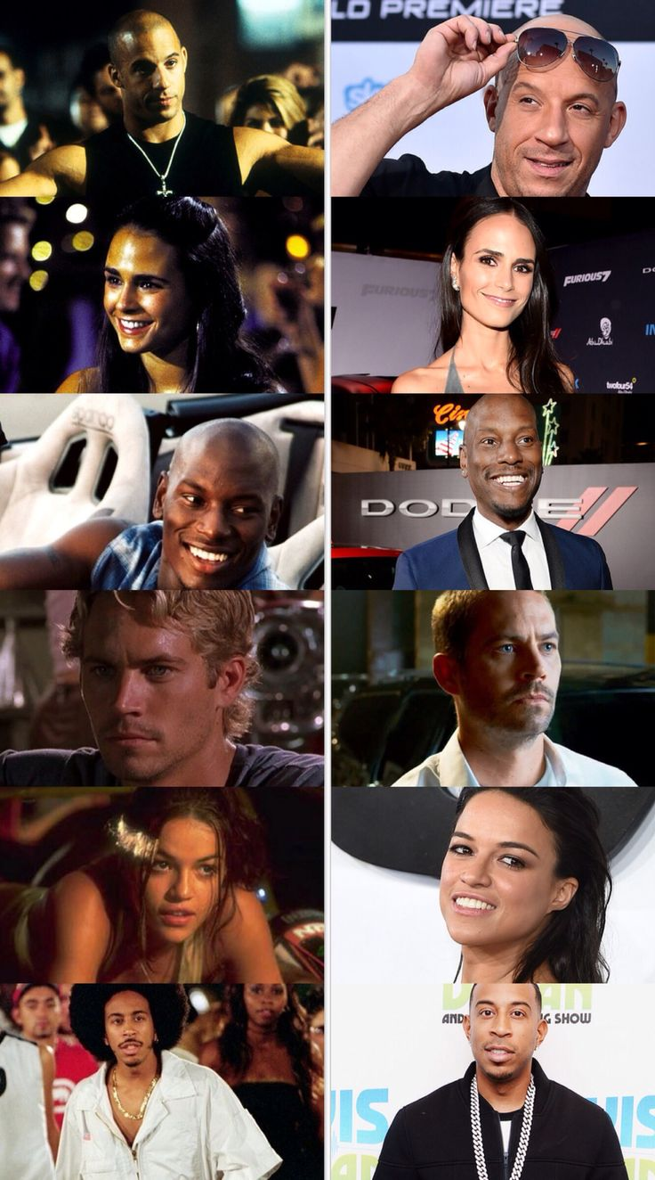 Fast and Furious Cast Then and Now