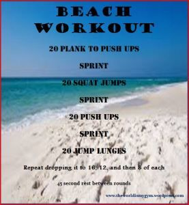 Florida Beach Workout. No Equipment needed. #fitness #workout I wish I would've found this sooner!