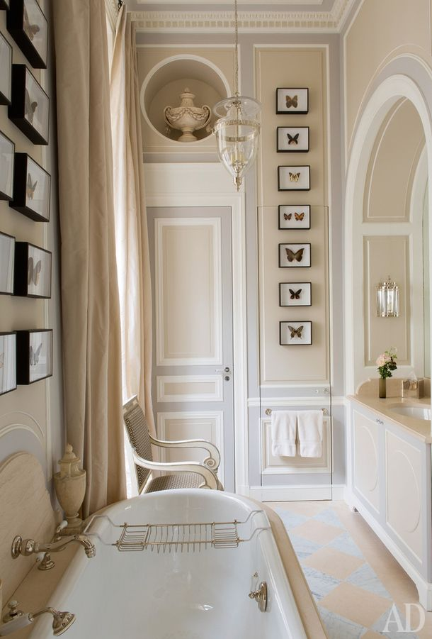 Image Gallery For Website Camel and gray The Enchanted Home This elegant bathroom looks like it could u
