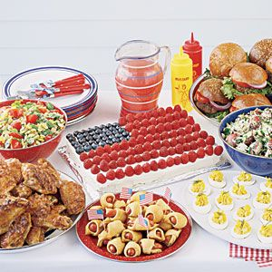 July 4th Cookout Menu  Yum!  Be sure to send me an invite!
