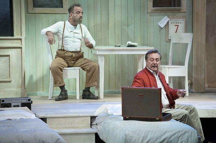 Giobbe Covatta e Enzo Iacchetti in MATTI DA SLEGARE; foto di Angelo Redaelli