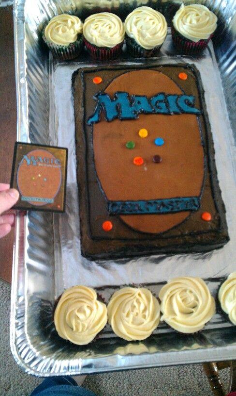 Magic card cake
