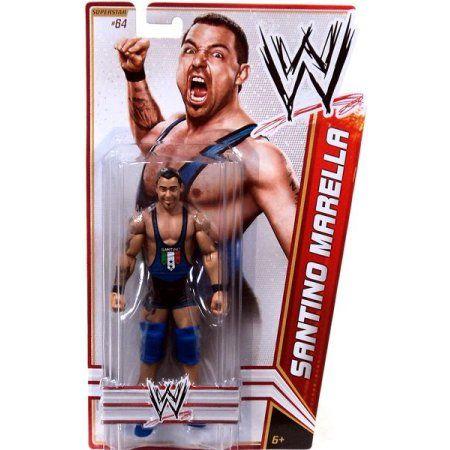 WWE Wrestling Basic Series 23 Santino Marella Action Figure, Multicolor