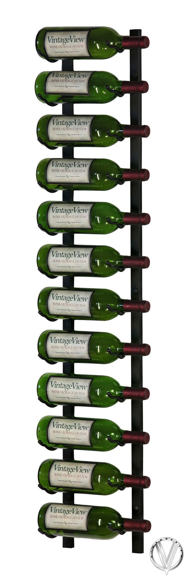 The 4-foot Wall Series option is Vintage View's largest stand-alone Wall Series options, with a max capacity of 36 bottles per section. This option is great for collectors that need maximum capacity o