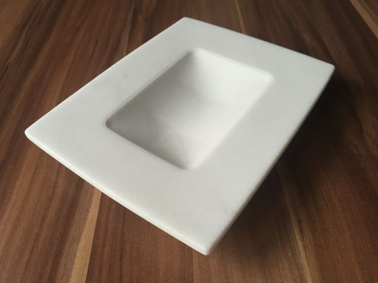 First of a new kind, white marble plate craftet in Lasa Marmo Bianco Classico.