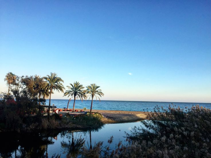 Marbella beach winter