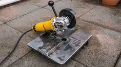 Homemade mini angle grinder stand and metal chop saw 3 in 1 - YouTube