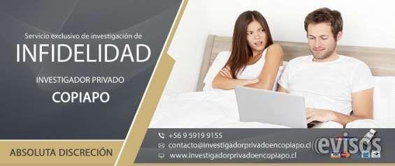INVESTIGADOR PRIVADO EN COPIAPO  INVESTIGADOR PRIVADO COPIAPO  Nuestra meta, es decir  ..  http://caldera.evisos.cl/investigador-privado-en-copiapo-id-621064
