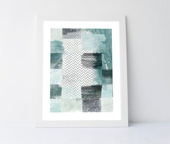 Antiqued aqua aqua print printable wall by PrintableGiftIdeas