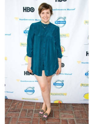 """When Lena Dunham's pantsless red-carpet look sparked a media firestorm this past fall, the Girls creator fired right back: """"I don't think a girl with tiny thighs would have received such no-pants attention. I think what it really was about... 'Why did you all make us look at your thighs?' My response is, get used to it because I am going to live to be 100, and I am going to show my thighs every day till I die."""""""