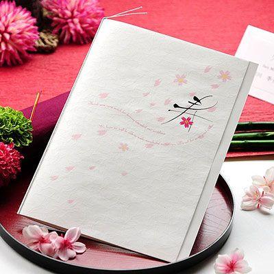 春の和婚で使いたい桜柄♡ ピンクのキュートな席次表一覧。結婚式の席次表まとめ。