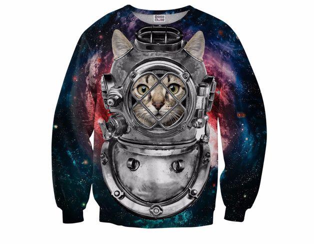 Bluza z Kotem Astronautą - mrgugu - Koszulki i bluzy