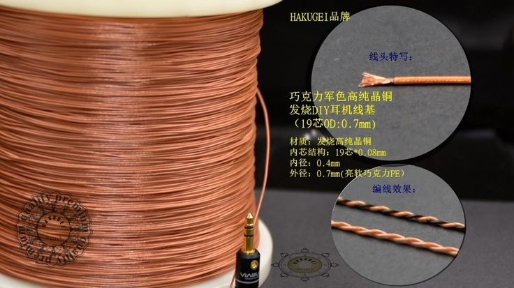High pure copper Fever DIY headphone cable 19 core OD: 0.7mm Hakugei cable (price is for 12meters)