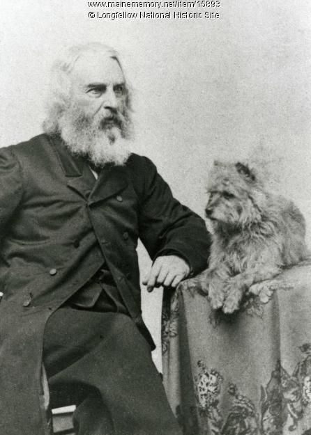 "The Longfellow family had many #pets, but the ""the last and greatest of all the #dogs was Trap; Trap the Scotch Terrier, Trap the polite, the elegant, sometimes on account of his deportment called Turneydrop, sometimes Louis the Fourteenth"" wrote Longfellow. Item #15893 on Maine Memory Network"