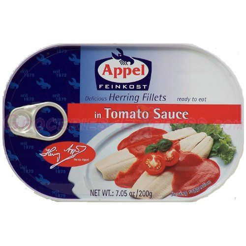 Appel Herring Fillets in Tomato Sauce 7.05 Oz Tins (Pack of 5) * To view further, click the image at Cheap Meals for Dinner board