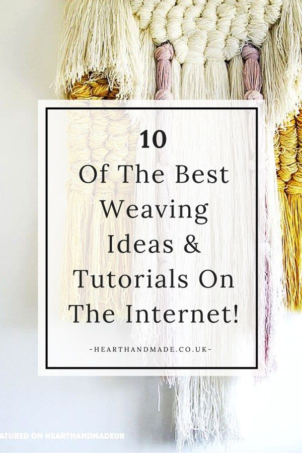 These are seriously some of 10 of the best weaving ideas and tutorials I've ever seen! Some diy crafts projects are so skilled and designing woven wall hangings is one of them. It looks like a project I'd love to try!