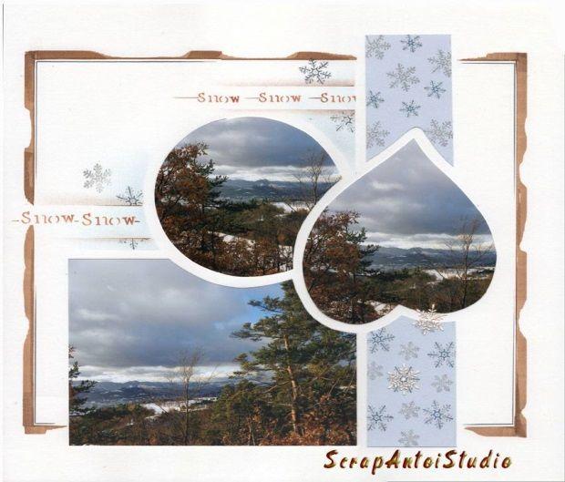 Dans les cimes pour voir arriver la neige à travers le gabarit Seychelles réalisé par Antoinette Ellul.
