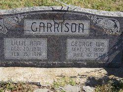 Lillie Ann Evans Garrison, 1891-1978, and George William Garrison, 1890-1971