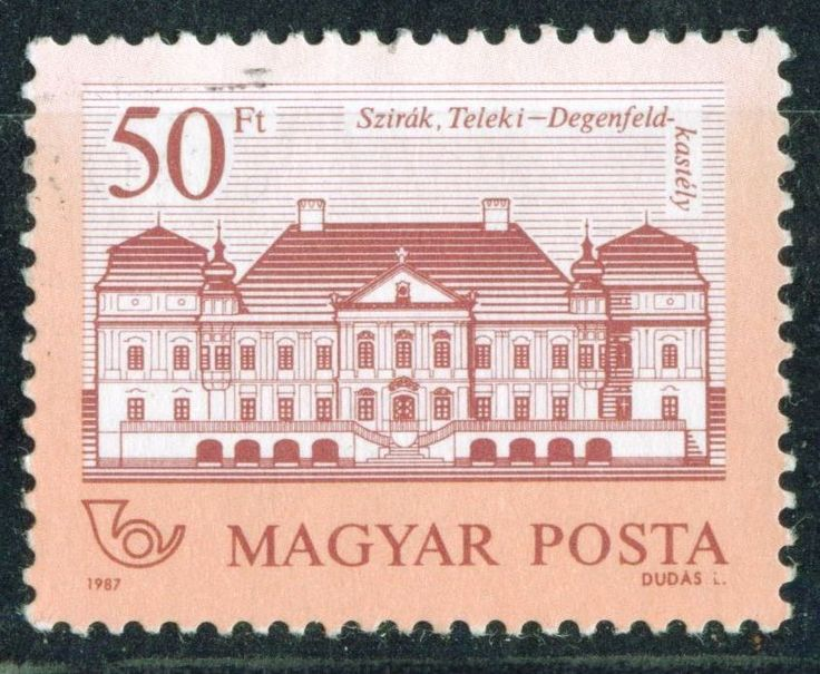 Sello: Teleki-Degenfeld Castle, Szirák (Hungría) (Castles) Mi:HU 3915A,Sn:HU 3027,Yt:HU 3123