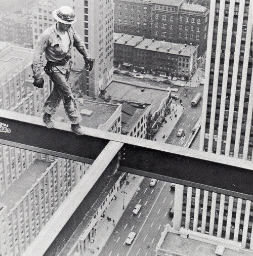 Steel Worker on Socony Mobil Building, 1955.