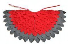 Childrens Wings Dress up Costume Wings Kids Red door BHBKidstyle