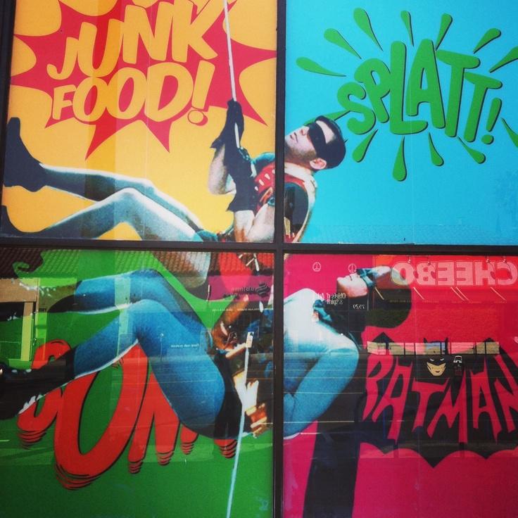 Junkfood Batman66 window display