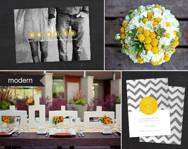 Modern invitation inspiration from Minted.com (via Snippet and Ink)