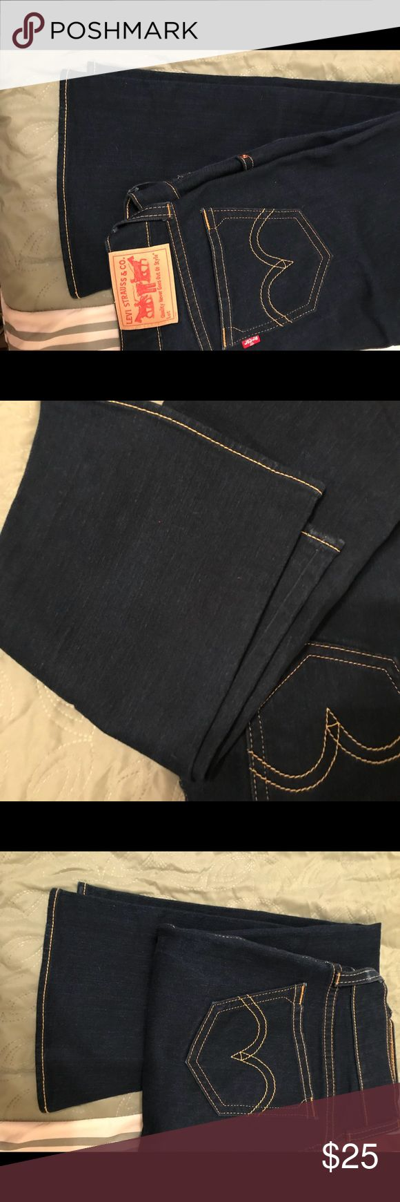 Levi's Womens Jeans size 12, bootcut Levi's women's jeans size 12, bootcut, dark blue in color, no fraying, too big for me. My loss is your gain! Levi's Jeans Boot Cut